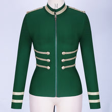 Load image into Gallery viewer, Elegant Long Sleeve Bandage Jacket Bodycon