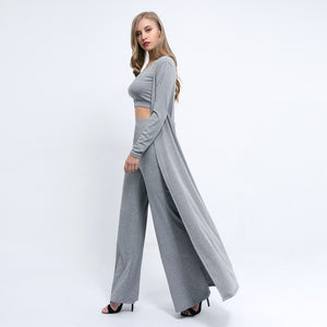 Autumn Winter Ribbed 3 Pieces Set