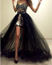 Load image into Gallery viewer, Black  Tulle Overskirt Detachable Skirt