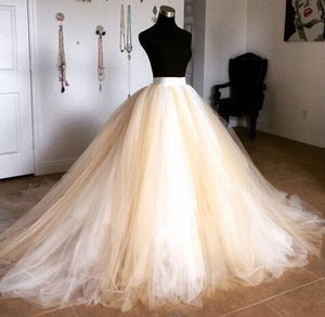 Super Puffy Tulle Long Skirts