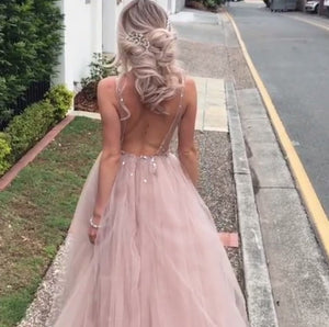 Tulle Long Prom Dresses