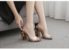 Load image into Gallery viewer, PVC Transparent Leopard grain Ladies Slippers Summer Fashion
