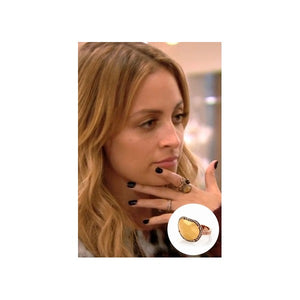 House of Harlow 1960 - Horizontal Sahara Sand Ring as seen on Nicole Richie