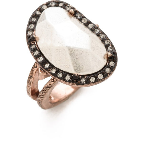 House of Harlow 1960 - Vertical Sahara Sand Ring