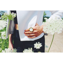 House of Harlow 1960 - White Sand Medium Sunburst Ring
