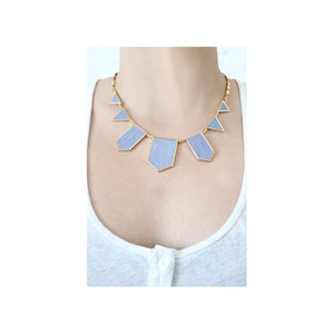 House of Harlow 1960 - Blue Star Five Station Necklace, as seen on Giuliana Rancic
