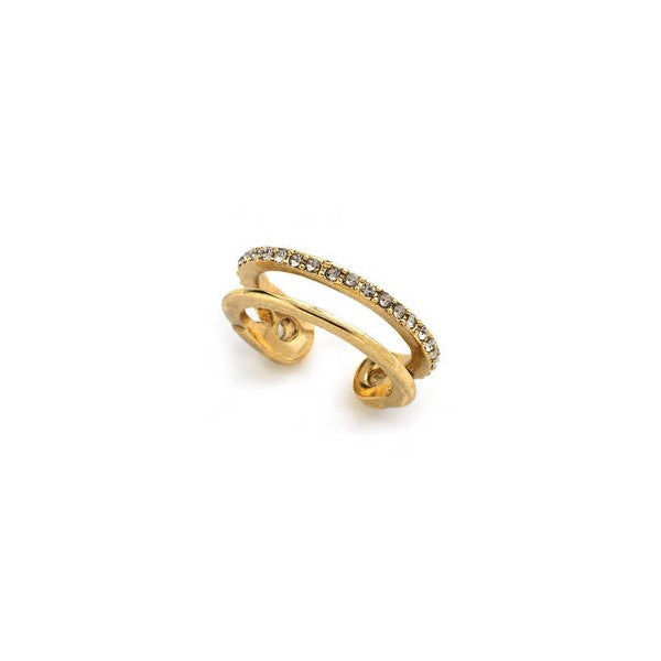 House of Harlow 1960 - Pave Safety Pin Wrap Ring