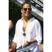 House of Harlow 1960 - Black Leather Starburst Pendant Necklace as seen on Jessica Alba , Nicole Richie , & More ..