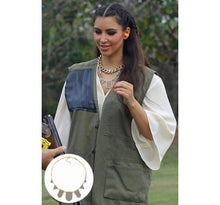 House of Harlow 1960 - 14KT Gold-Plated Khaki Leather Five Stations Necklace as seen on Nicole Richie & Kim Kardashian