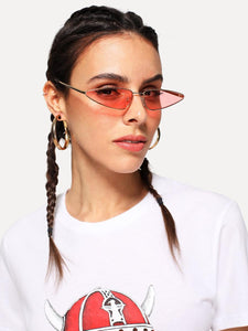 Cat Eye Sunglasses in Red