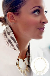 House of Harlow 1960 - White Sand Five Station Necklace as seen on Nicole Richie