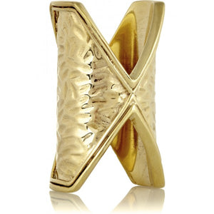 Fiona Paxton - Dakotah Hammered Brass Ring