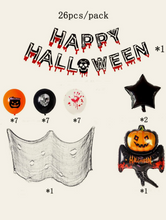 Halloween Decorative Balloon Set - 26pcs