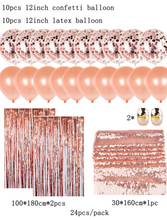 RoseGold Balloon Set - 24 pcs