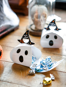 Halloween Ghost Box With Hat Handle