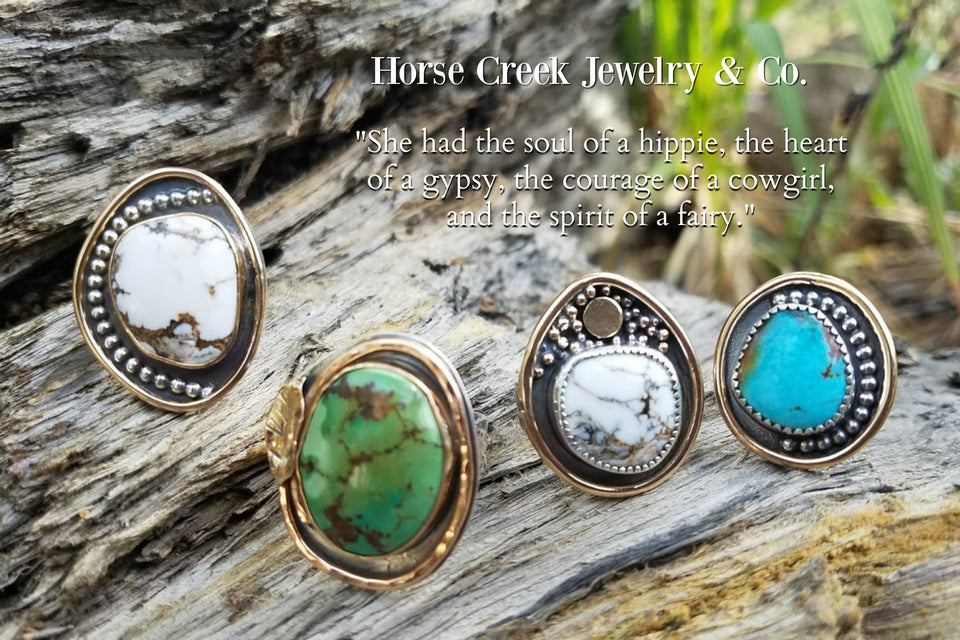 horse creek jewelry helenesdreams rings turquoise and gold