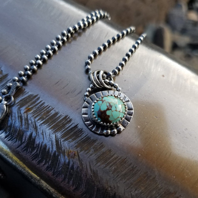 turquoise charm necklace horse creek