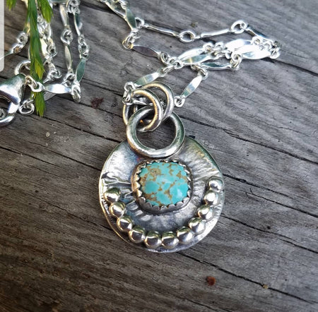 Turquoise Charm Neclace