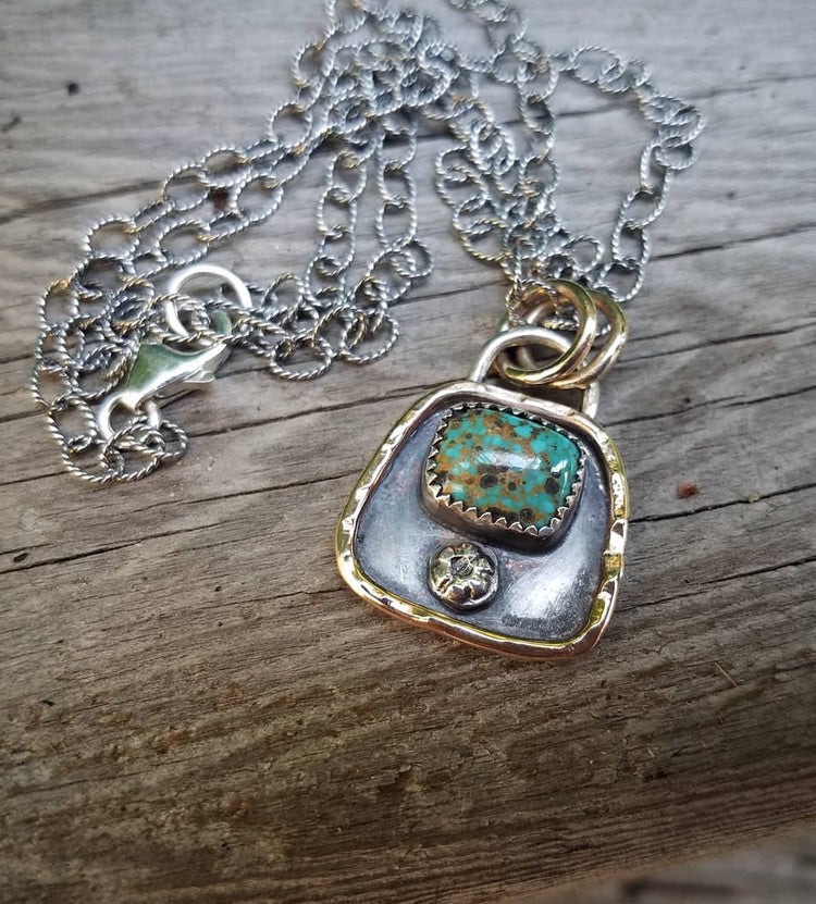 Turquoise Charm Necklace Horse Creek Jewelry