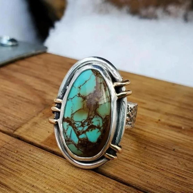 turquoise cowgirl chunky ring