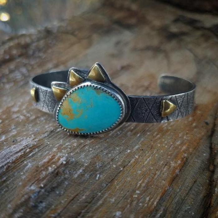 Turquoise Sterling Silver Cuff Bracelet Horse Creek jewelry