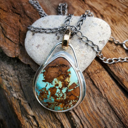 Royston Turquoise Mixed Metal Necklace