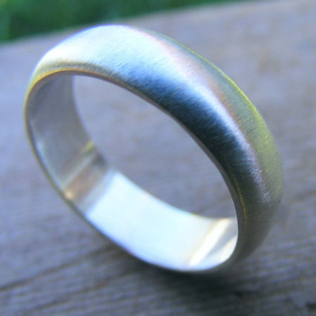 Sterling Silver Ring Band, Mens Wedding Band, Wedding Ring, Simple Ring With Satin Finish Or Shiny Finish - HorseCreekJewelry