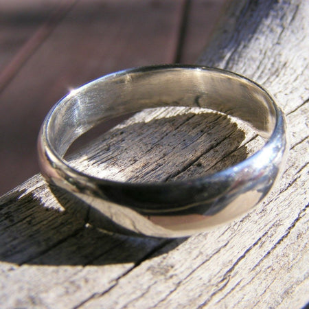Wedding Band, Wedding Ring, Mens or Womens Sterling Silver Ring Band, - HorseCreekJewelry