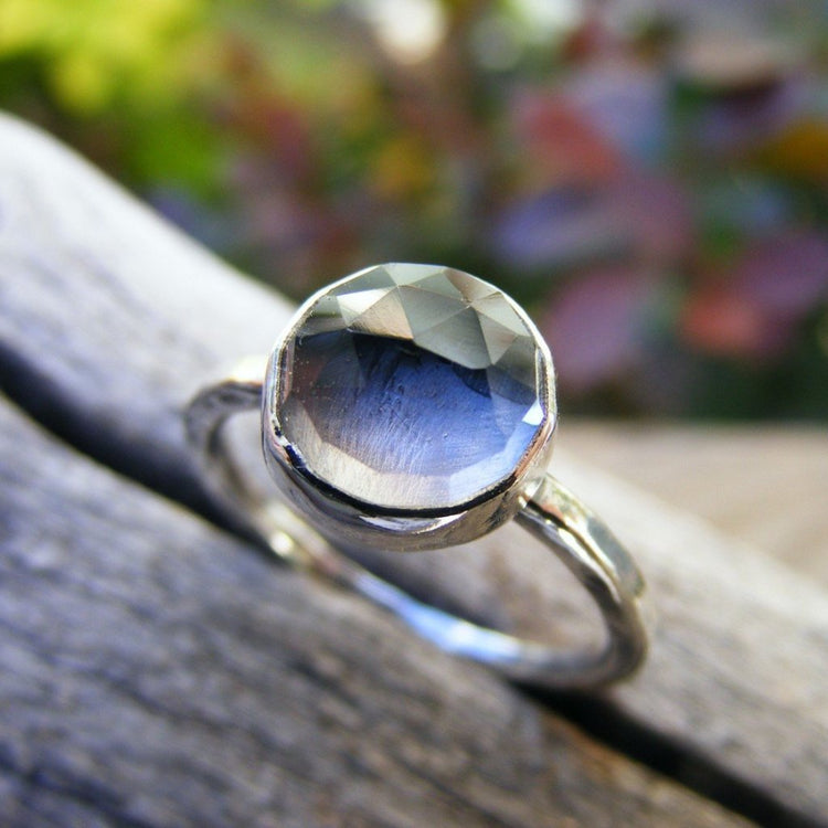 Crystal Quartz Sterling Silver STacking Ring - HorseCreekJewelry