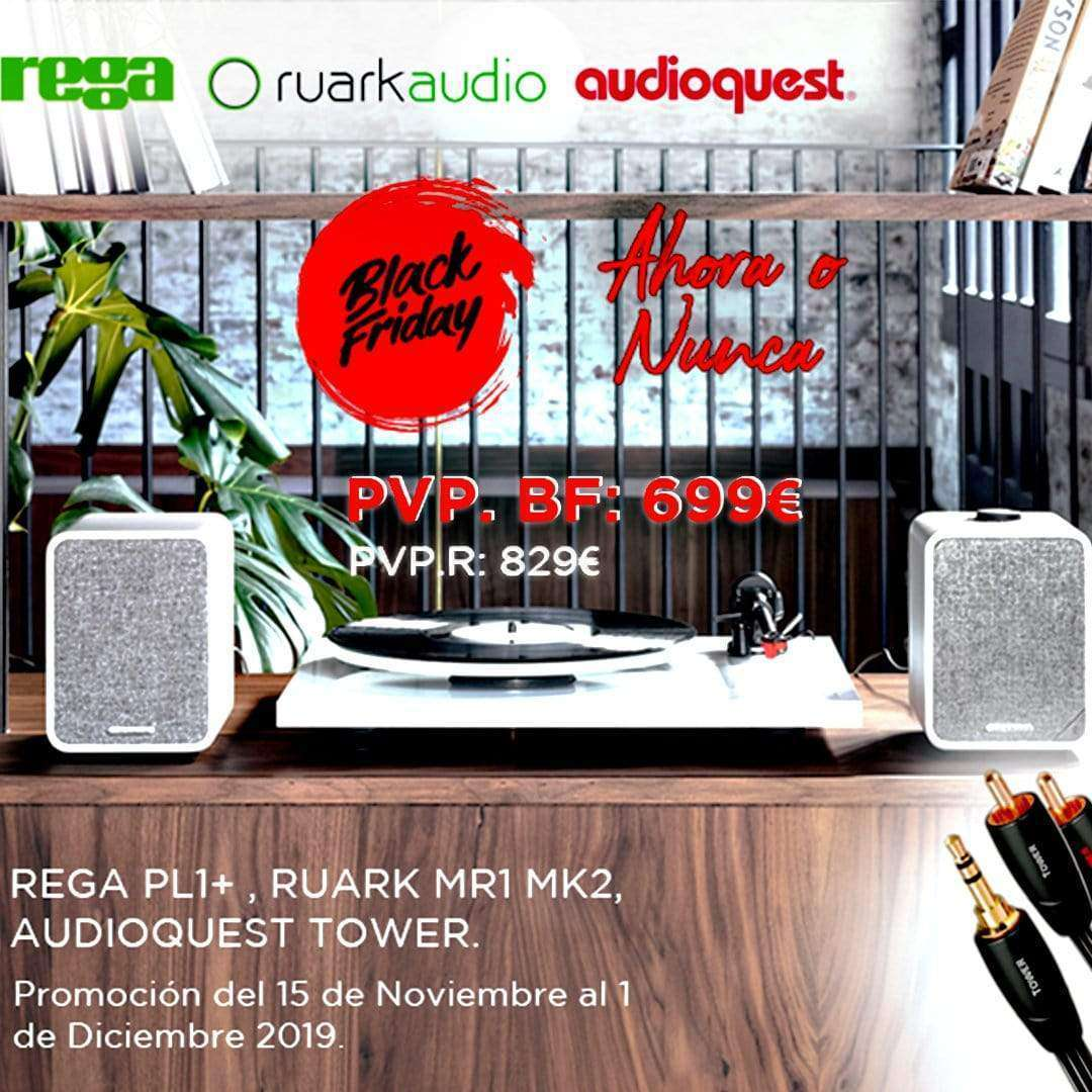 Rega Planar 1 + Ruark MR1 MK2 + Audioquest Tower