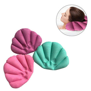 LUOEM Bath Pillow Inflatable Spa Pillow Soft Back Neck Cushion With Suction Cups for Bathtub Bathroom Random Color