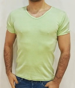 T-Shirt Basic mit geriffeltem Look