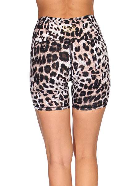 LEOPARD SHAPER HIGH WAIST BOOTY SHORTS