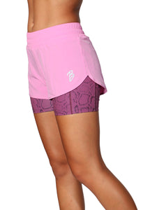 2 IN 1 WARRIOR SHORTS - PINK