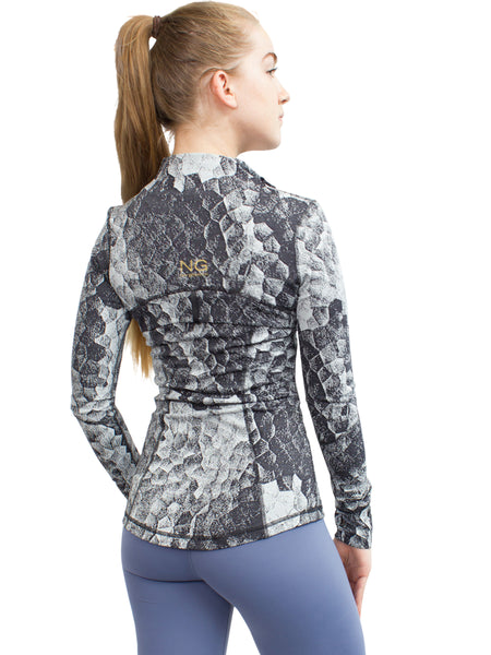 SCALES PATTERN SPORT JACKET - GREY