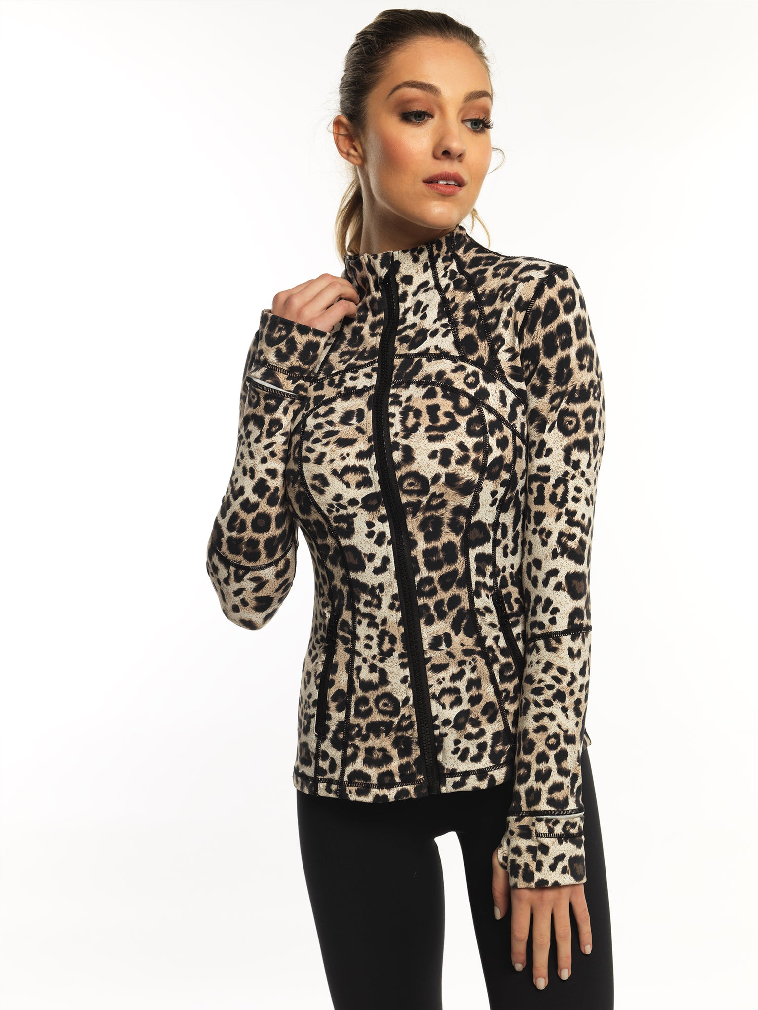 CONTOUR DESIGN RUNNING LEOPARD JACKET