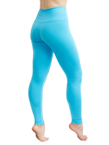 HIGH WAISTED EXTRA SOFT LEGGINGS - TURQUOISE