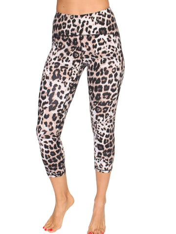 ULTIMATE SUPPORT 3/4 LEOPARD TIGHTS