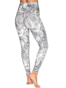 EXTRA HIGH WAIST ANKLE BITER ZEN TIGHTS - WHITE/BLACK