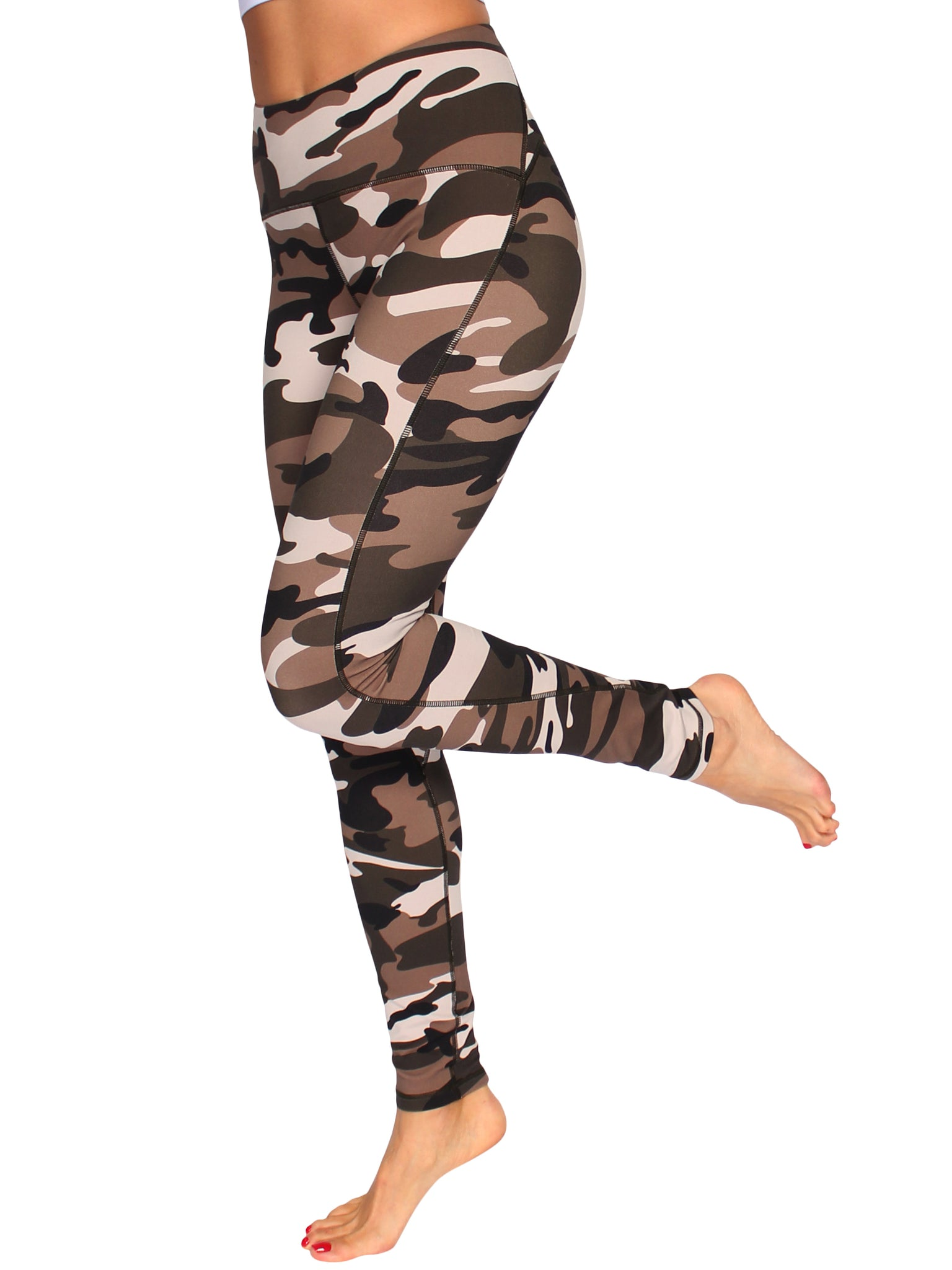 YOGA SHAPER F/L CAMO TIGHTS - SAHARA