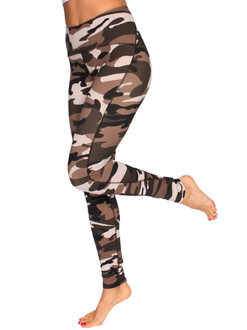 ULTIMATE SHAPER F/L CAMO TIGHTS - SAHARA