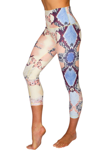 HIGH-RISE SNAKE 3/4 TRAINING TIGHTS - MULTI