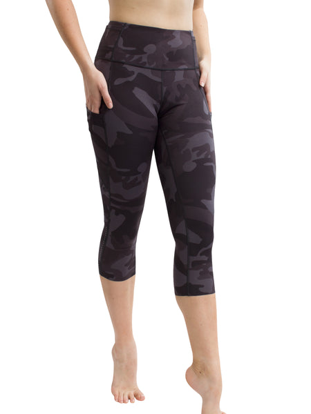 RAW EDGE POCKET CAPRI - CAMO