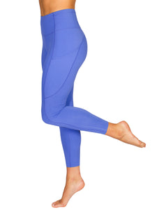 HIGH-RISE POCKET DETAIL ANKLE BITER GYM TIGHTS- ROYAL