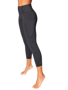 HIGH-RISE POCKET DETAIL 7/8 YOGA TIGHTS - BLACK