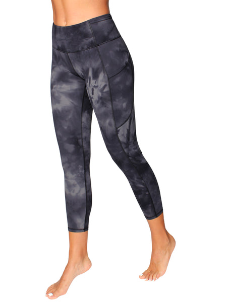 HIGH-RISE POCKET DETAIL 7/8 YOGA TIGHTS - STORM