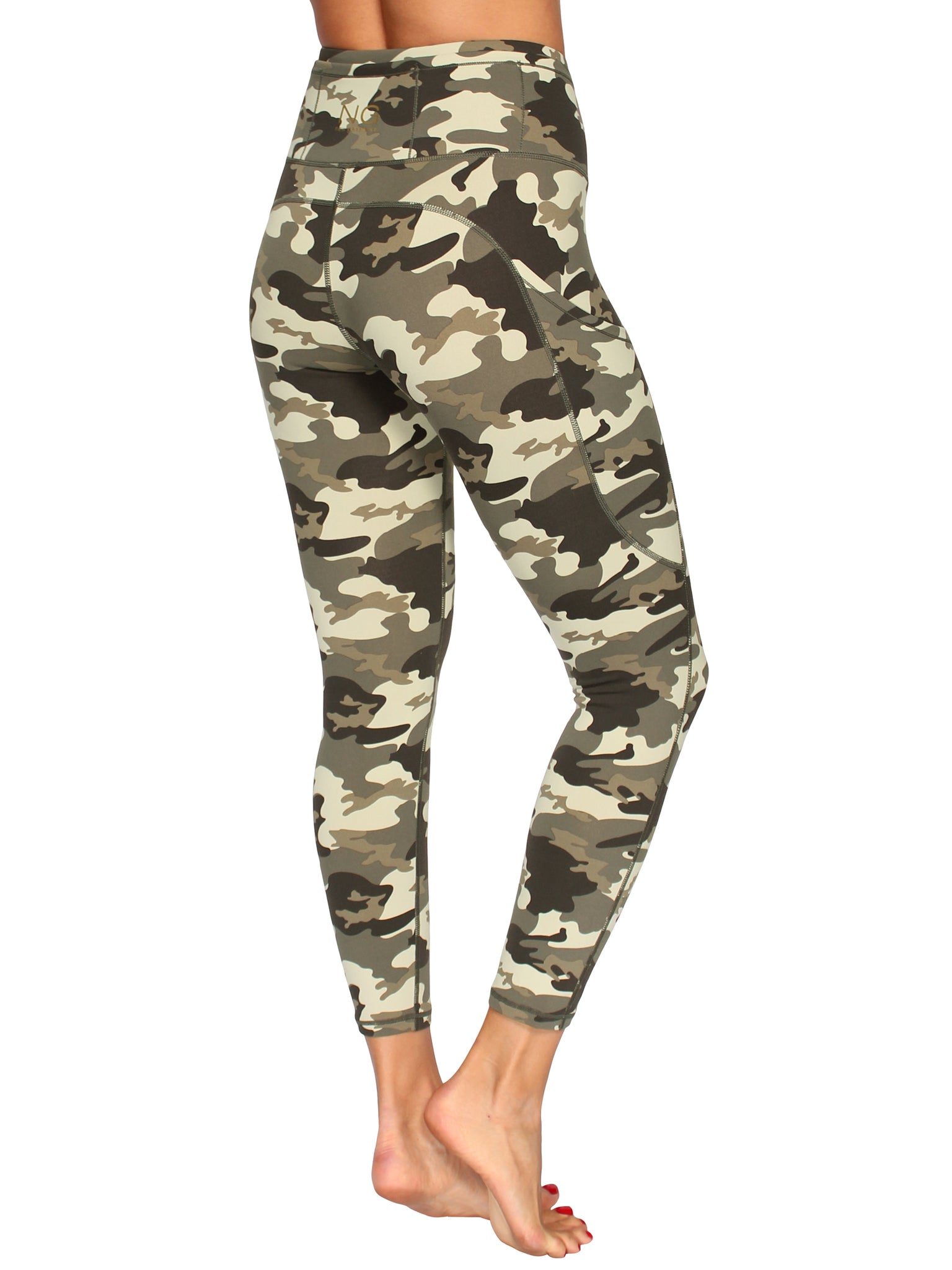 HIGH-RISE SUPPORT ANKLE BITER TIGHTS - CAMO