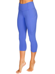 HIGH-RISE POCKET DETAIL 3/4 GYM TIGHTS- ROYAL