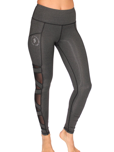 SLASH MESH SPORT F/L TIGHTS - CHARCOAL
