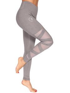 SLASH MESH SPORT F/L TIGHTS - GREY MARL